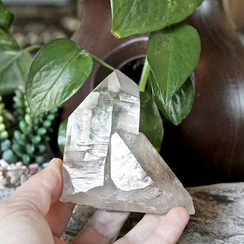 "3"" x 3"" Quartz Crystal Point, LARGE Stone Specimen (258 grams)"