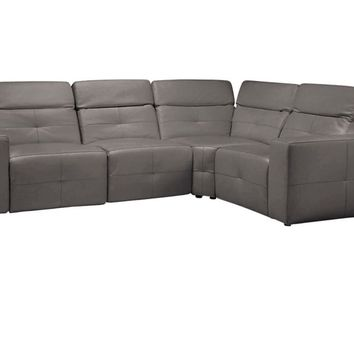Milan Grey Leather Sectional | Z Gallerie