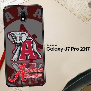 Alabama Crimson Tide X3309 Samsung Galaxy J7 Pro SM J730 Case