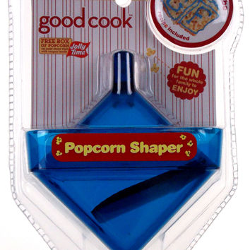 Lot of 3 Popcorn Baller Blue Square Cube Shape Good Cook Jolly Time Non Stick