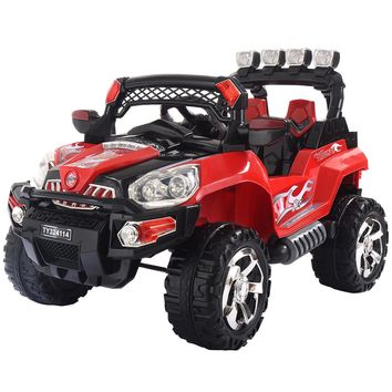Costway 12V Kids Ride On Truck Car SUV MP3 RC Remote Control w/ LED Lights Music