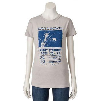 David Bowie ZIGGY STARDUST TOUR Ladies Junior T-Shirt Licensed & Official RARE!!