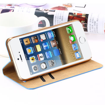 i6 6S Plus Stand Wallet Cover Fashion Bling Glitter Diamond PU Leather Phone Case For iPhone 6 4.76S For iPhone 6 Plus 6S Plus