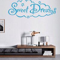 Wall Decal Vinyl Sticker Decals Art Decor Picture Sing Sweet Dreams Kids Bedroom good Night Stars Style (r68)