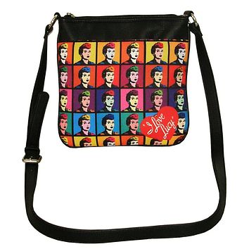 I Love Lucy Images Polyester Crossbody Handbag