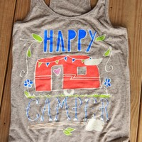 HAPPY CAMPER TANK - Junk GYpSy co.