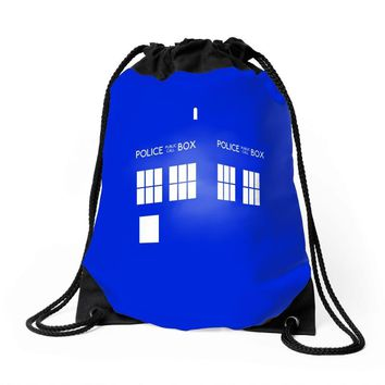Tardis Doctor Who Drawstring Bags