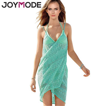 JOYMODE Women Swimwear Summer Beach Cover Up Plus Size , Outings Beach Crochet Swim Suit Cover Ups Women Beach Wear Sun Beach -E