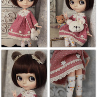 Blythe - Miss Bear dress set(5 items) for Blythe, could purchase separately