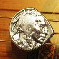 Antique USA Indian Head Buffalo Nickel Guitar & Mandolin Pick ... Free Worldwide Shipping