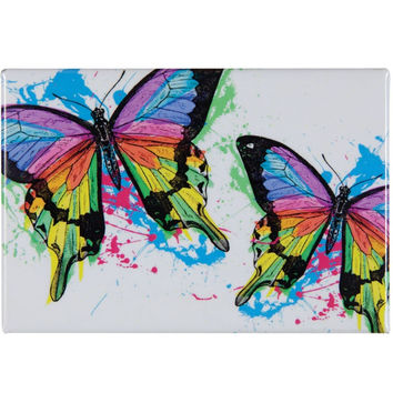Butterfly Sun Powered Spash Refrigerator Magnet