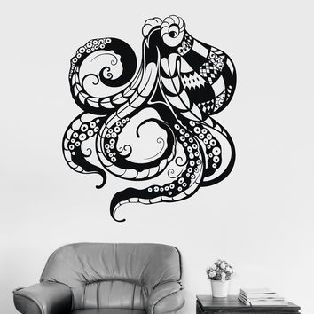 Vinyl Wall Decal Tentacles Octopus Marine Animal Ocean Theme Art Stickers Unique Gift (ig3196)