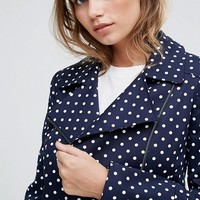 Helene Berman Polka Dot Biker Jacket at asos.com