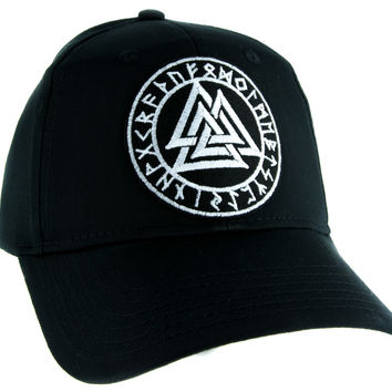 Valknut Odin Viking Symbol Hat Baseball Cap Alternative Clothing Old Norse Mythology