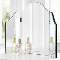 Mirrored Trifold Vanity