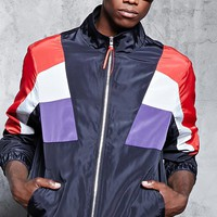 Contrast Zip-Up Windbreaker