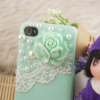 Pearl & Lace Flower IPhone 4/4S Case