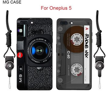 Fashion Retro Camera Tape Calculator Phone Case For OnePlus 5 A5000 ONEPLUS One 2 3 3T X Teardown Parts Mobile Phone Cover Shell