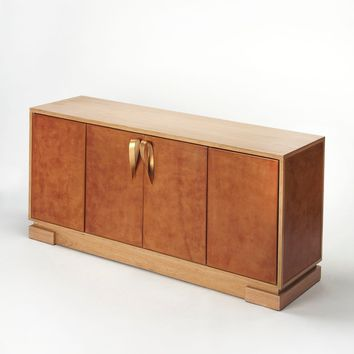 Butler Chauncey Leather Console Cabinet