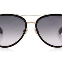 Jimmy Choo - Tora Black and Grey Aviator Sunglasses
