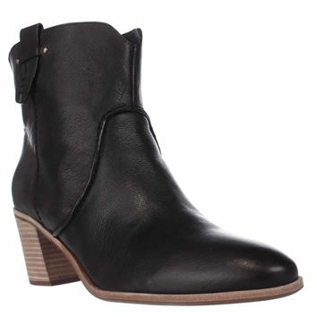 G.H. Bass & Co. Sophia Western Ankle Booties, Black, 7 US / 38 EU