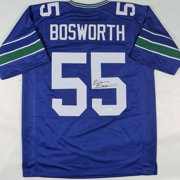 LMFON Brian Bosworth Signed Autographed Seattle Seahawks Football Jersey (JSA COA)