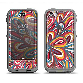 The Color Floral Sprout Apple iPhone 5c LifeProof Nuud Case Skin Set