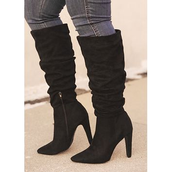 Willa Slouchy Black Boot