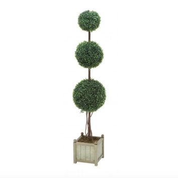 "48"" 3-Tier Boxwood Topiary"