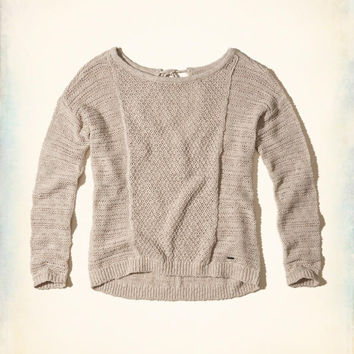 Girls Textured Open Back Sweater | Girls Tops | HollisterCo.com