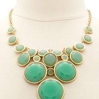 Faceted Stone Bib Necklace: Charlotte Russe