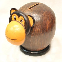 Handmade Kids Money Bank‏ - Monkey