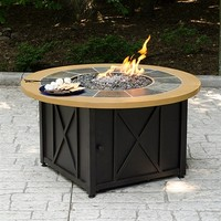 SheilaShrubs.com: UniFlame LP Gas Outdoor Firebowl With Slate And Faux Wood Mantel GAD1362SP by Blue Rhino: Fire Pits