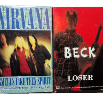 Smells Like A Loser NiRVANA BECK cassette tape LoT vintage music cassingle collection punk Kurt Cobain