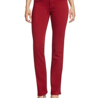 NYDJMarilyn Straight Leg Jeans in Poinsettia
