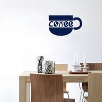 Wall Vinyl Sticker Decal Art Design Coffee Cup for Cafe Kitchen Room Nice Picture Decor Hall Wall Chu487
