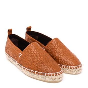 LOEWE | Embossed Leather Espadrilles | brownsfashion.com | The Finest Edit of Luxury Fashion | Clothes, Shoes, Bags and Accessories for Men & Women