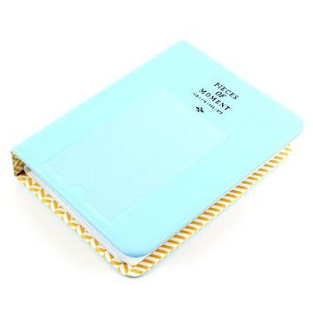 64 Pockets Photo Album for Mini Fujifilm Instax Mini 8 7s 25 50s 90 Polaroid & Name Card(Blue)
