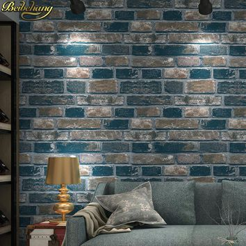 beibehang 3d wallpaper stone dining room wallpaper background wall wallpaper pvc roll brick wall paper papel de parede vintage