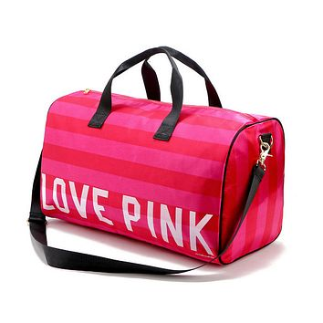 Pink: portable Shoulder Messenger gym bag