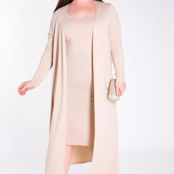 Ensley Dress & Maxi Cardigan Set