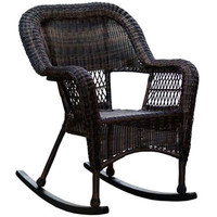Dark Brown Wicker Outdoor Patio Rocking Chair