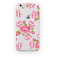 MFVN iPhone 6 Plus/iPhone 6S Plus Protective Case-Vintage Floral Pattern Case-Flowers Wallpaper Hard Plastic Clear Case Silicone Skin Cover