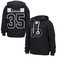 Steve Mason Philadelphia Flyers Reebok Lace Up Name & Number Hockey Hoodie - Black