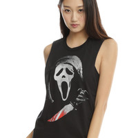 Scream Mask Girls Muscle Top