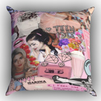 Marina and the Diamonds X1269 Zippered Pillows  Covers 16x16, 18x18, 20x20 Inches