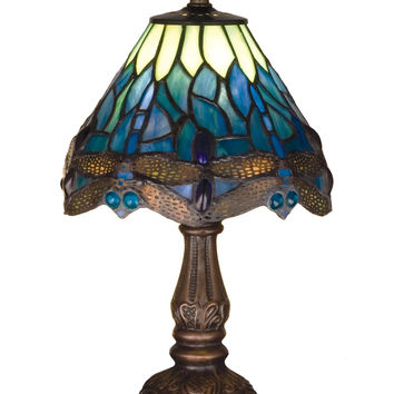 Stained Glass Tiffany Lamp - Hanging Head Dragonfly Mini Lamp
