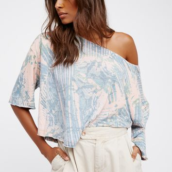 Free People Printed Lagoon Tee