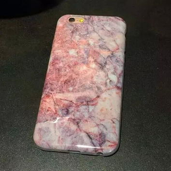 Pink Marble Iphone 6 Plus 6S Cases