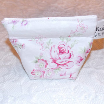 Shabby Chic Rose Coin Purse